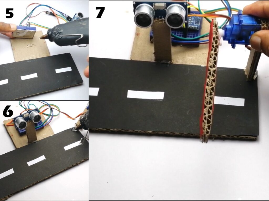 how to make arduino toll tax barrier finishing