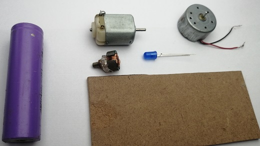 materials for generator project