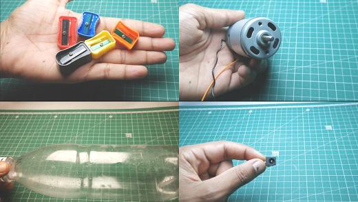 homemade automatic pencil sharpening machine materials