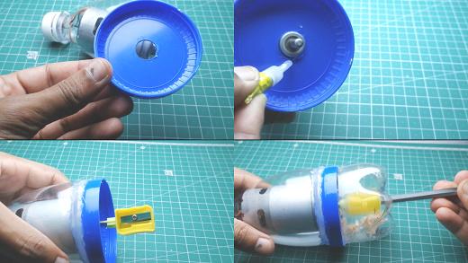 finishing part of automatic sharpener making