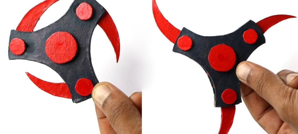 Make shuriken from cardboard