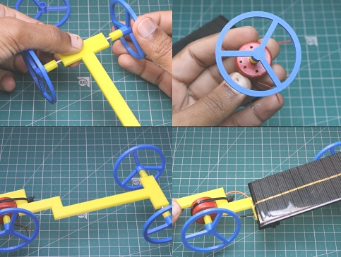 Steps for solar car making