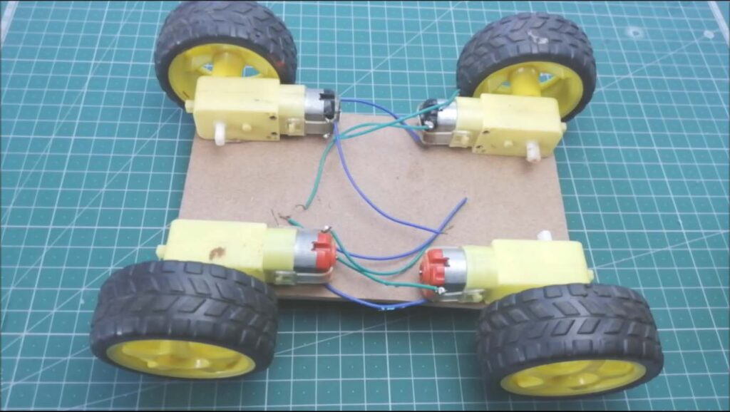 Smartphone controlled Arduino robot car assembly