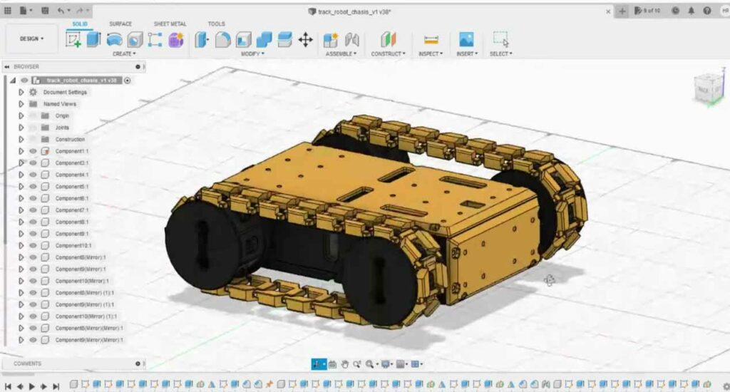 Robot car chassis design