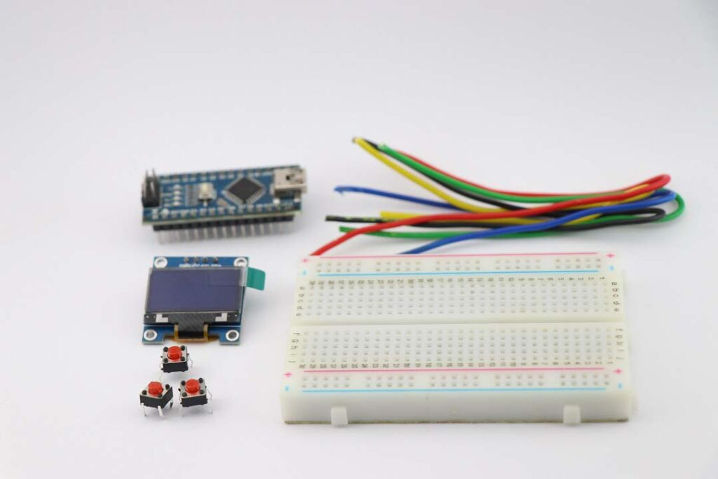 materials for Arduino Handheld game console